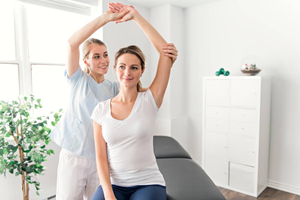 Patient and Physiotherapist